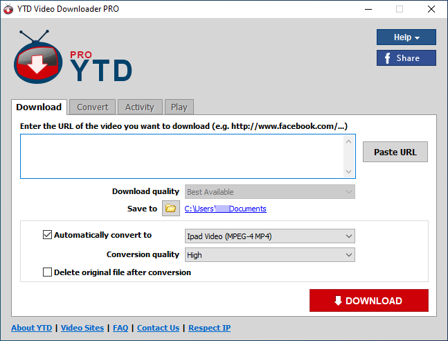 Main_YTD Video Downloader