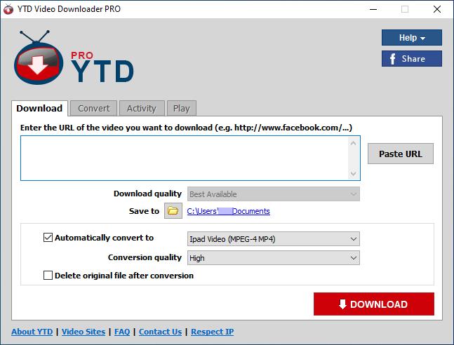 Main_YTD Video Downloader